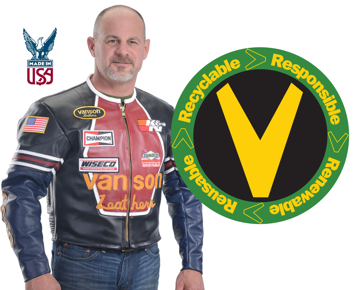Used, overstock, and odd sized Motorcycle Jackets by Vanson