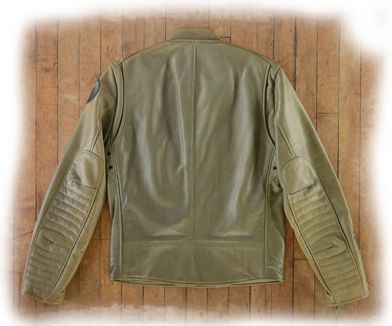 ff707e4d3 Portland Motorcycle Jacket - Olive Green Deer Tanned Cow Leather