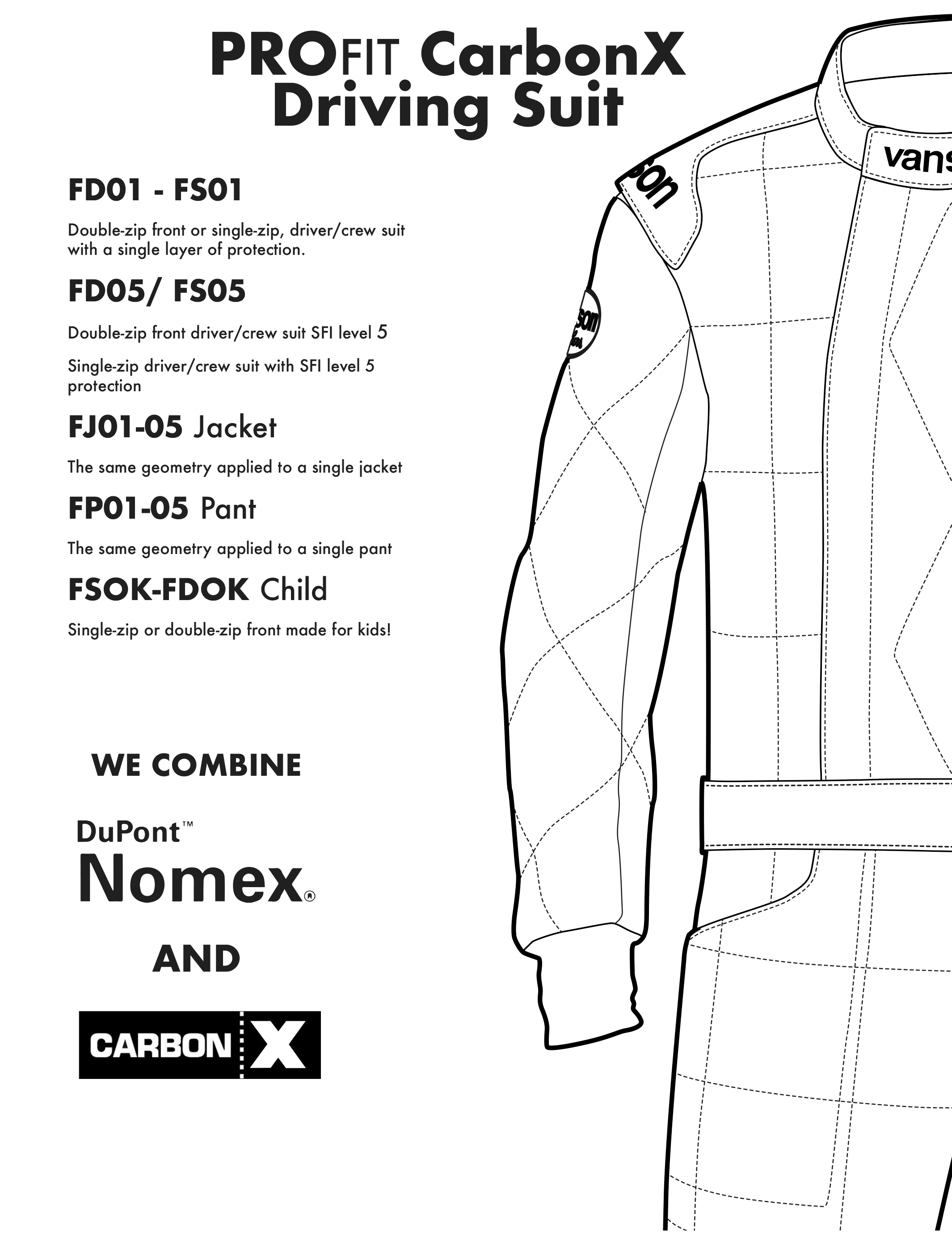 Vanson Automotive Race Suits