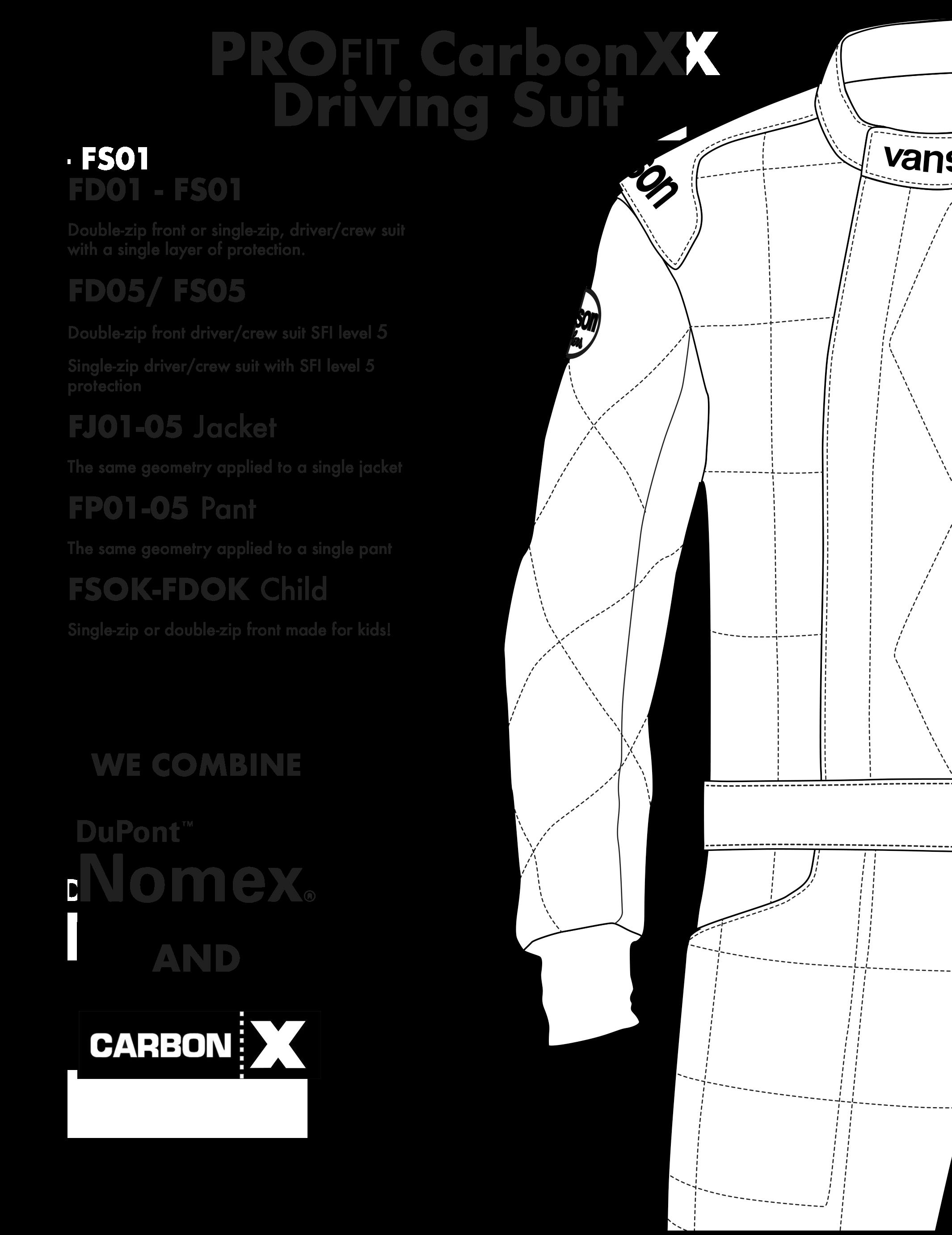 Vanson Automotive Race Suits