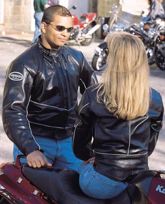 Vanson's C3AV Reflective leather jacket