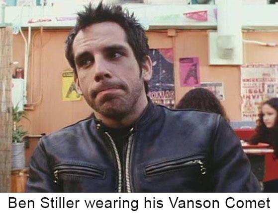 Ben Stiller wearing his personal Comet Jacket