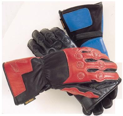 Vanson red nitrous racing gloves