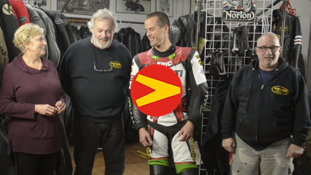 Mike Van der Sleesen introduces Vanson' new Air-Pro air bag suit
