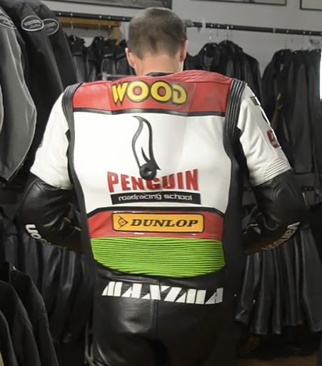 back view of Air-Pro air bag suit after activation