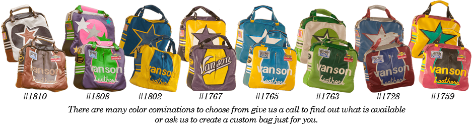 the many colors of the Vanson Star leather bag