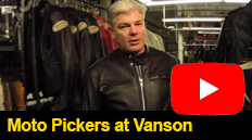 Moto Pickers came to Vanson Leathers to document the processes we use in design, patterning, and construction to create our world class leathers.