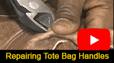 Vanson repairs the handles of a 30+ year old Tote Bag