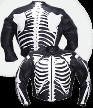 vanson bones flat-track jacket