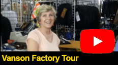 Colin from gorgeousbikes visits the Vanson factory and gets a tour and the lowdown from Kim