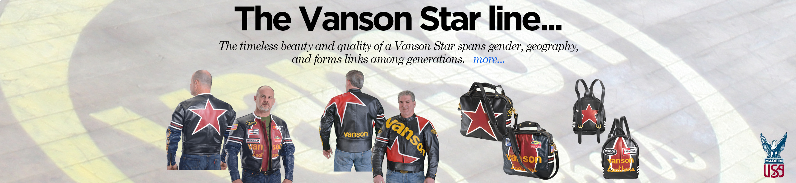 The timeless beauty and quality of a Vanson Star leather jackets and bags