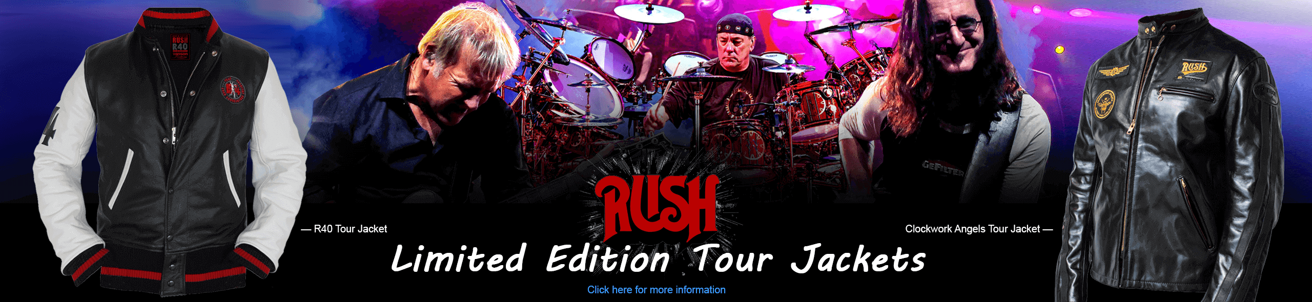 As authorized by RUSH, Vanson is offering limited editions of these two tour jackets. Here is your chance as a true RUSH fan to own an authentic Tour Jacket from Vanson Leathers.